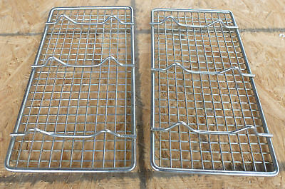 """2 LOT - 5""""x10"""" Wire Racks heavy duty steel drain pan grate third size cooling"""