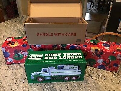 Sold out New 2017 Hess Toy Truck Dump Truck and Loader NIB Never Opened!
