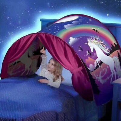 Baby Bed Dream Tents Unicorn Fantasy Foldable Tent Outdoor Camp Kids Play Tent