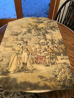"""Old French Tapestry 40"""" X 27"""" Antique Nice Piece"""