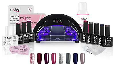 Mylee LED Lamp with Optional Professional Gel Nail Kit and Bluesky Polishes