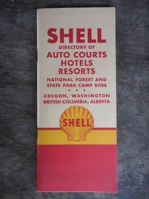 Shell Directory Auto Courts Hotels Resorts Parks Oregon Washington & Canada 1950