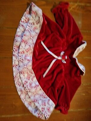 Baby Girl 0-3 months Christmas Dress Red with White Lace Long Sleeve