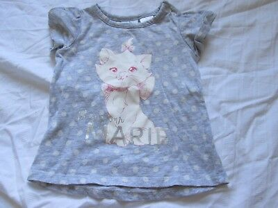 Disney The Aristocats Marie Cat Graphic T-Shirt Grey Size 0