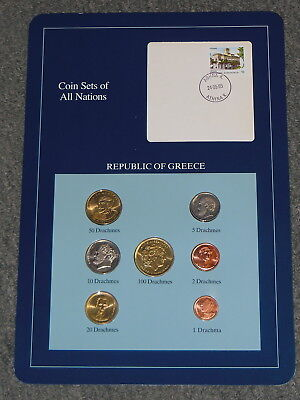 Franklin Mint Coins Of All Nations   Republic Of Greece    7 Coin Set All Unc