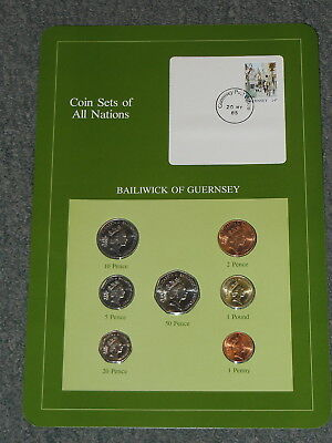 Franklin Mint Coins Of All Nations  Bailwick Of Guernsey  7 Coin Set All Unc