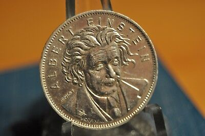 1968 Shell's Famous Facts & Faces Game Token, Albert Einstein Coin