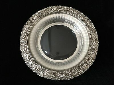 VTG Holland Ware W.M.MTS. MWC Co. Silver on Copper Serving Dish w/Glass Insert