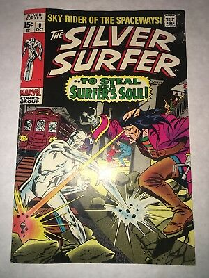 SILVER SURFER #9 FN/VF 7.0 4th APPEARANCE MEPHISTO OW/W PG STAN LEE JOHN BUSCEMA
