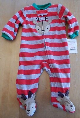 45a370d66672 NWT BABY BOY Carters Christmas One Piece Pajamas  Sleeper Size ...