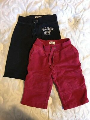 Old Navy 12-18 M Sweat Pants Red And Black