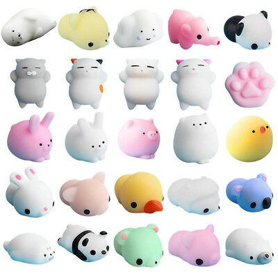 25PCS Cute Mochi Squishy Cat Squeeze Healing Fun Kids Kawaii Toy Stress Reliever