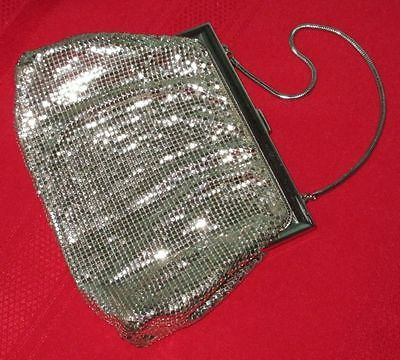 Whiting & Davis American Art Deco Silver Mesh Lady's Purse 1930-40s