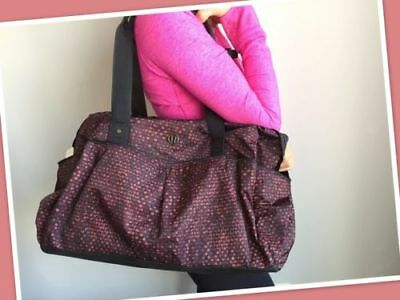 NEW Lululemon All Day Duffel Tote Gym Bag Heat - Shatter Weave Dust Coral Plum