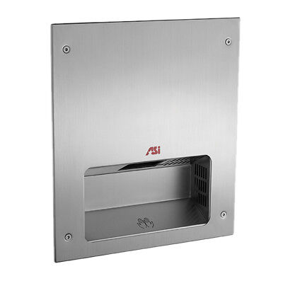 ADA Compiant--ASI 0133 Fully Recessed Automatic Hand Dryer - Stainless
