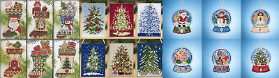 Mill Hill FESTIVAL OF TREES, CHARMED STOCKING, or SNOW GLOBE Cross Stitch Kits