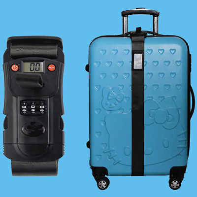 New Travel Luggage Password Suitcase Secure Lock Safe Packing Strap Belt Useful