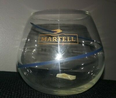 Set of 4 MARTELL Cordon Bleu COGNAC Crystal SNIFTER Glasses Made in Belgium