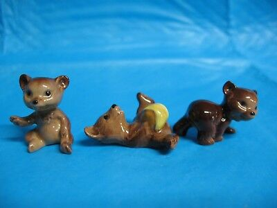 Hagen Renaker 3 little bear cubs brother sister and honey pot NR Free Shipping
