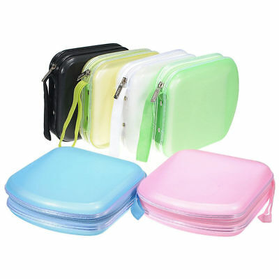 40 Disc CD DVD Plastic Storage Zipper Bag Case Box Wallet Album Holder Protector