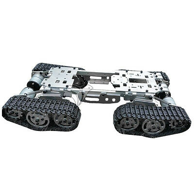 6-12V CNC Metall Roboter ATV Track Tank Chassis Federung Hindernis Crossing Sale