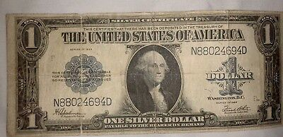 1923 Silver Certificate 1$ Horse Blanket circulated