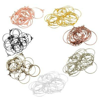 20pcs DIY Craft Round Hoop Loop Ear Wire Jewelry Making Earrings Findings