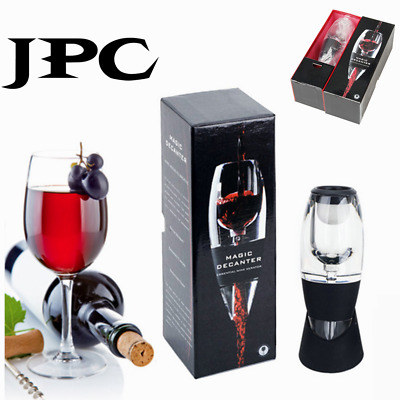 2PCS New Magic Decanter Essential Red Wine Aerator Sediment Filter Pouch *