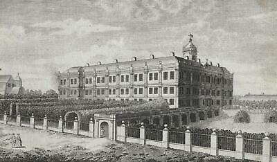 "NEUSTRELITZ - ""A view of the Palace of Strelitz"" - Schloss - Radierung um 1750"