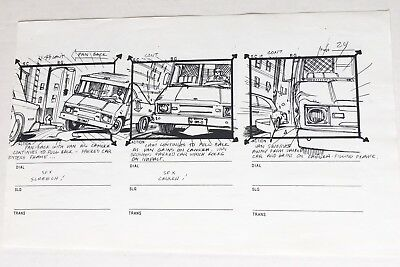 Spider Man Animated Series Marvel 1994 production storyboard First Episode pg 24