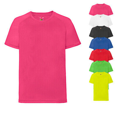 Fruit of the Loom Kinder Laufshirt Funktionsshirt Sportshirt T-Shirt Neu F350K