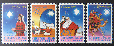 1989 Christmas Island Stamps - Christmas - Set of 4 MNH