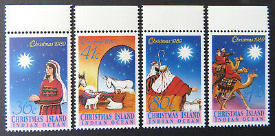 1989 Christmas Island Stamps - Christmas - Set of 4 with Tabs MNH