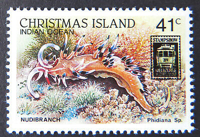 1989 Christmas Island Stamps - Wildlife - Melbourne Stampshow O/P - 1x41c MNH