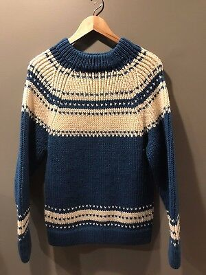 Vintage 1960/70's HUDSON'S 100% WOOL SKI SWEATER MADE IN DENMARK - EX CONDITION