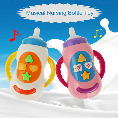 Baby Music and Light Toy Feeding Bottle Shape Learning Study Developmental Toy