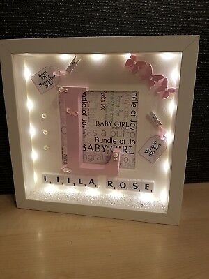 personalised light up friend box frame wedding birthday