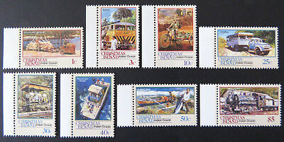 1990 Christmas Island Stamps - Transport Through the Ages - Pt I Set 8-Tab MNH