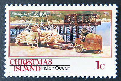1990 Christmas Island Stamps - Transport Through the Ages - Pt I Single 1c MNH
