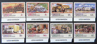 1990 Christmas Island Stamps - Transport Through the Ages - Pt II Set 8-Tabs MNH