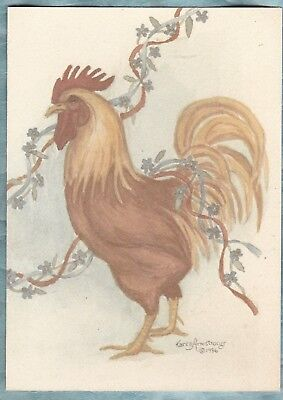 Notecard from Creative Collection Karen Armstrong Rooster design 1986