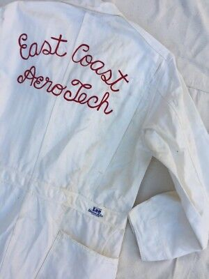Vintage 1960s Lee Coveralls With Chainstitch Embroidery East Coast Aerotech