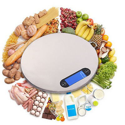 5kg Stainless Steel Super Thin Touch Key Electronic Scale Digital Household