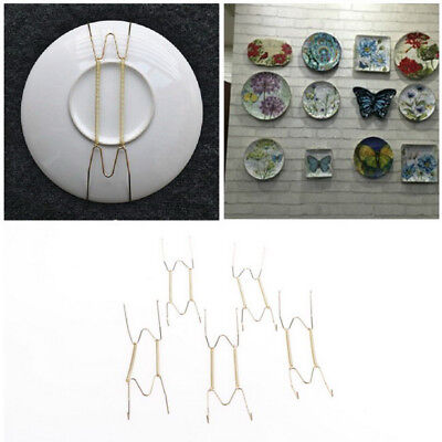 5X Plate Wire Hanging White Hanger Flexible With Spring Wall Display&Art DecorXe