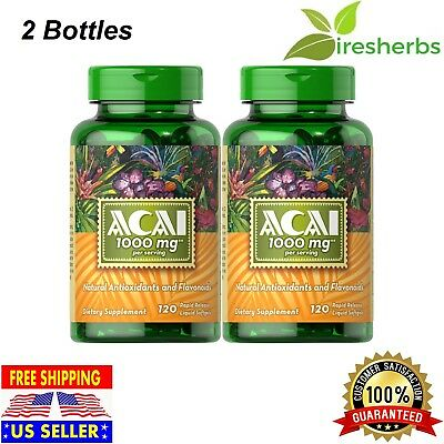 ACAI EXTRACT 1000mg Supports Overall Well-Being ANTIOXIDANT SUPPLEMENT 240 SOFTG