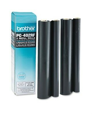 2 GENUINE BROTHER PC-402RF Refill Rolls for PC-401 PC-501 Cartridge ~ NEW SEALED