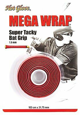 Unique Sports Hot Glove Mega Wrap Bat Grip 103 cm x 31.75 mm - Red