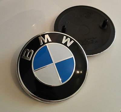 Fits:BMW Emblem 82mm 2 Pin Front Hood Rear Trunk Logo Badge Decal 51148132375