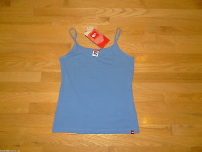 New North Face Womens Gentle Stretch Cami Tank Top Small Shoreline Blue NWT $20