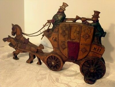 Vintage London Royal Mail Stagecoach Double Sided Cast Iron Door Stop